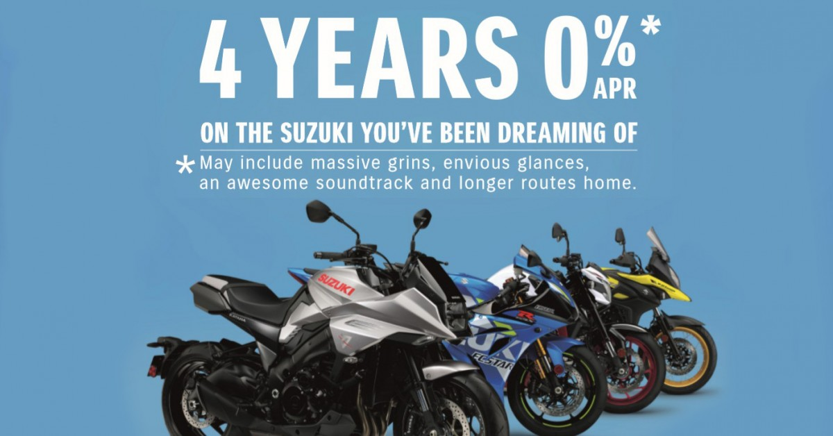 Suzuki Launch 4 Years 0% Finance