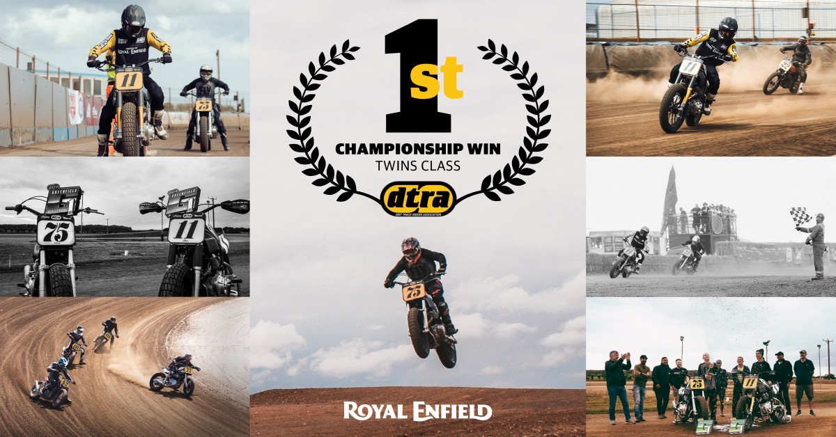 Royal Enfield wins the 2021 DTRA Flat Track