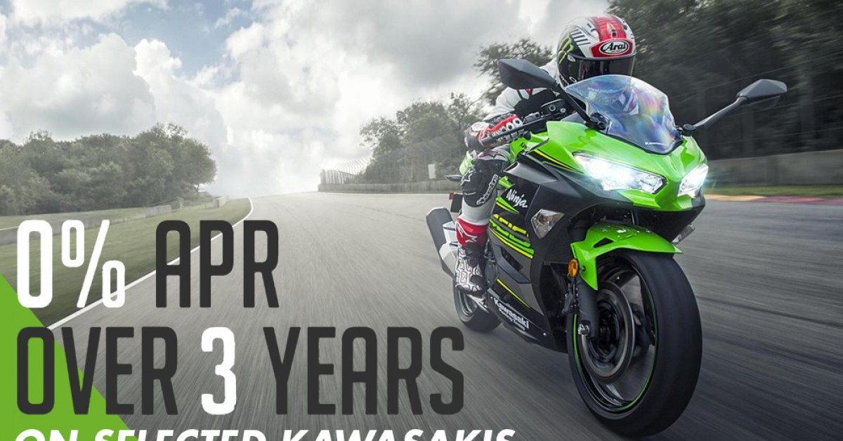 Kawasaki 2019 0% offer Launched