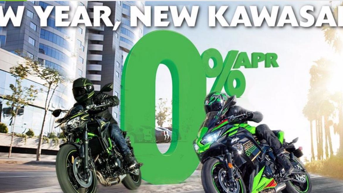 Kawasaki 0% Finance Over 3 Years