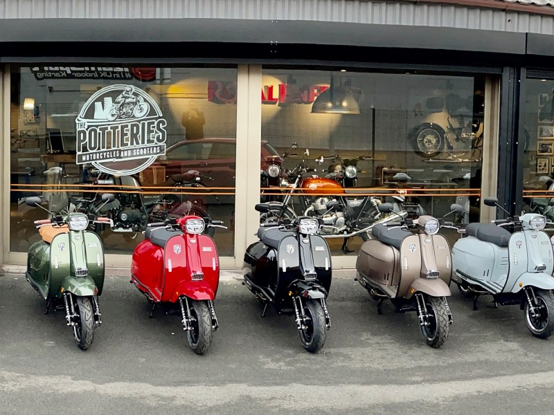 Scooter meet at The Potteries