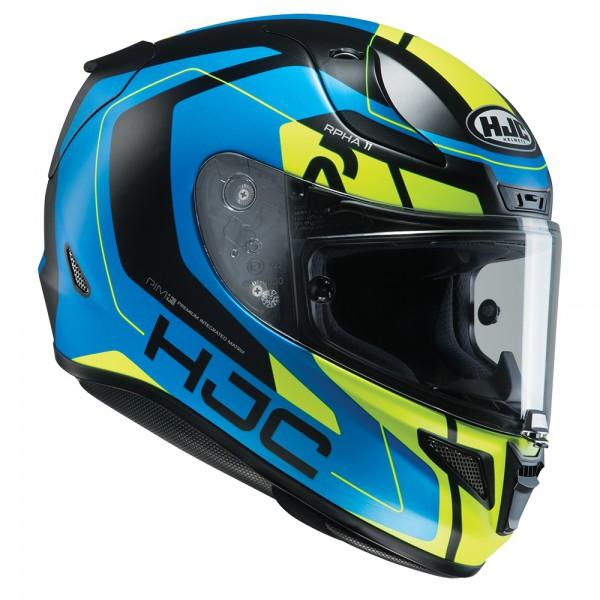 HJC RPHA 11 Chakri Blue & Fluo Helmet Large