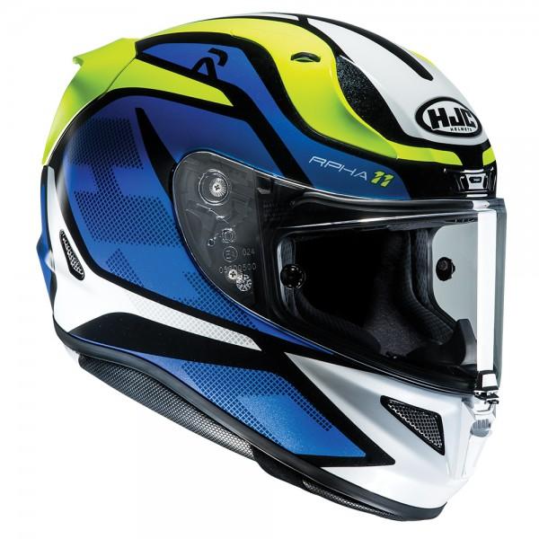 HJC Rpha 11 Deroka Blue Motorcycle Helmet XL