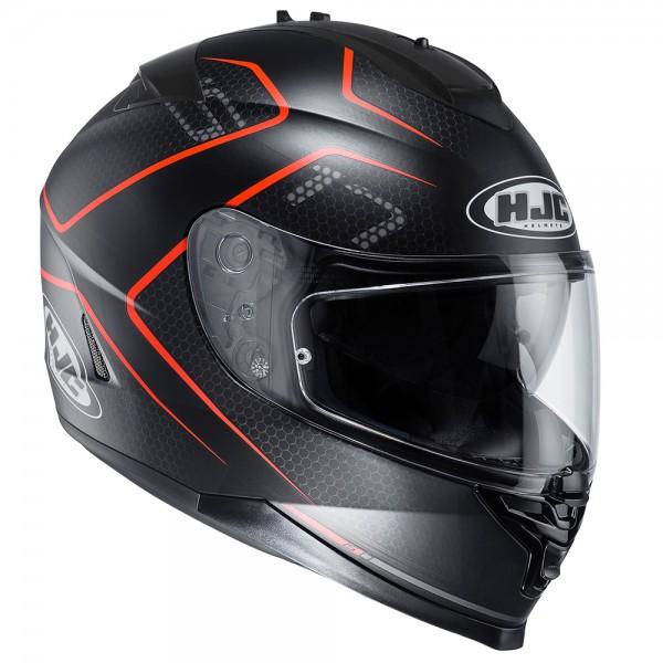 HJC Is-17 Lank Black & Red Helmet