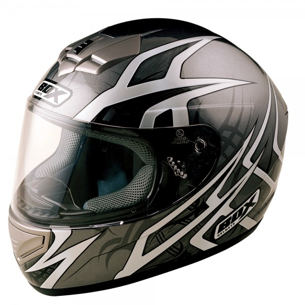 Box BX-1 Web Full Face Helmet Black