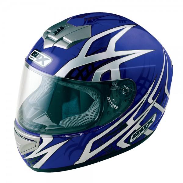 Box BX-1 Web Full Face Helmet Blue