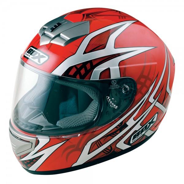 Box BX-1 Web Full Face Helmet Red