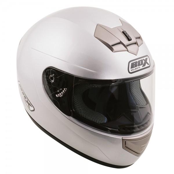 Box BX-1 Full Face Helmet Silver