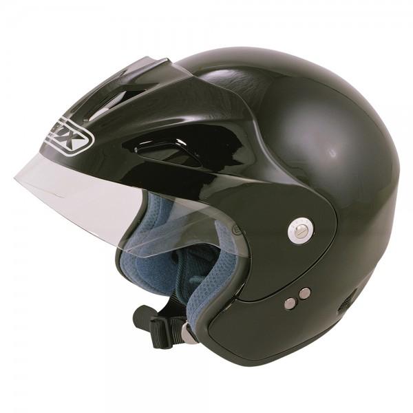 BOX Jx-1 Open Face Helmet Black