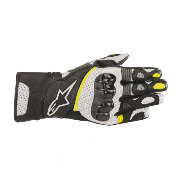 Alpinestars SP-2 v2 Gloves Black White & Yellow Fluo