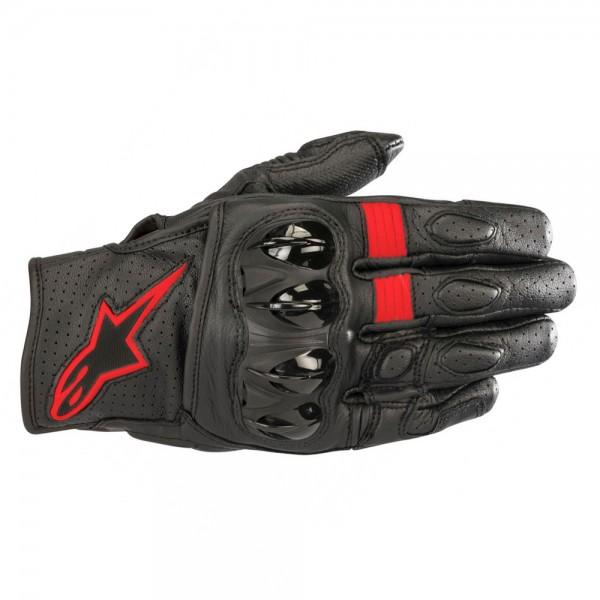 Alpinestars Celer V2 Leather Gloves Black/Fluo Red