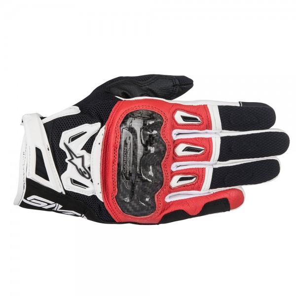 Alpinestars SMX-2 Air Carbon v2 Gloves - Black Red & White