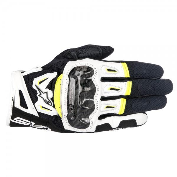Alpinestars SMX-2 Air Carbon v2 Gloves Black White & Yellow