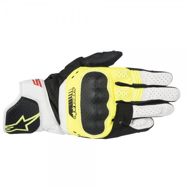 Alpinestars SP-5 Gloves Yellow White & Red
