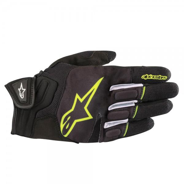 Alpinestars Atom Gloves Black & Yellow Fluo