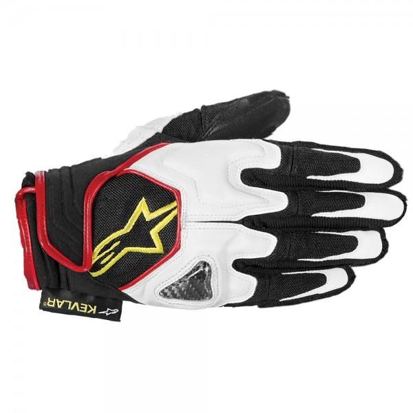 Alpinestars Scheme Gloves White Black Red & Fluo