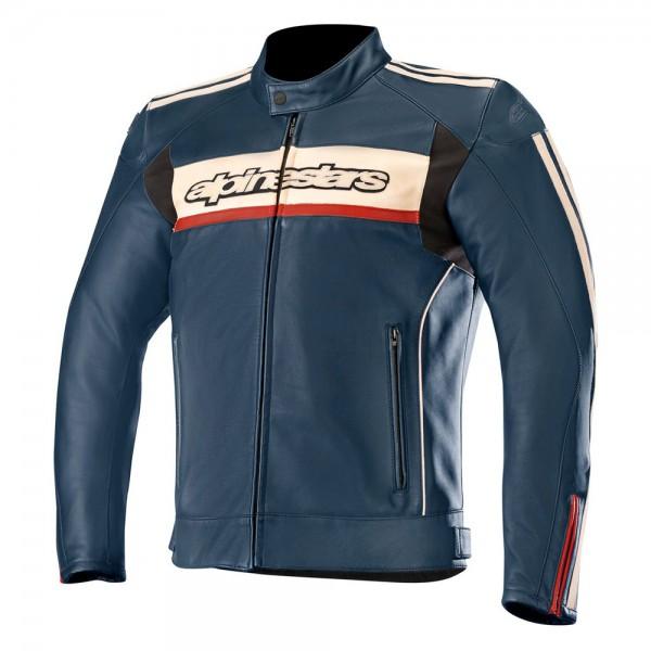 Alpinestars Dyno v2 Leather Jacket Navy