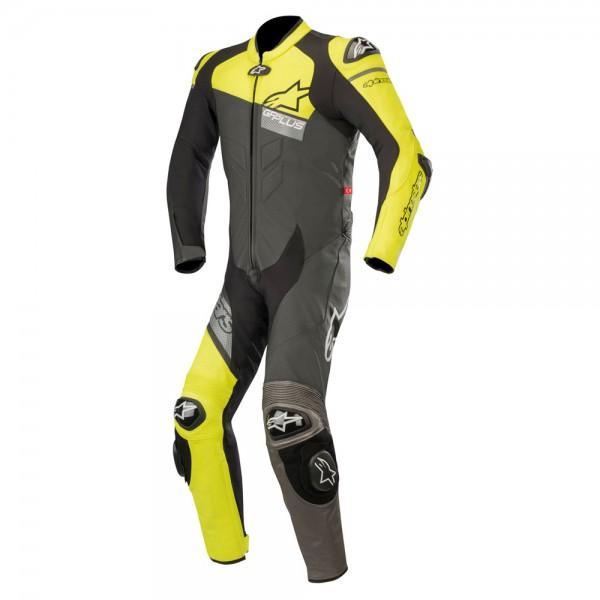 Alpinestars Gp Plus Venom 1 Piece Leather Suit Black & Yellow & Grey