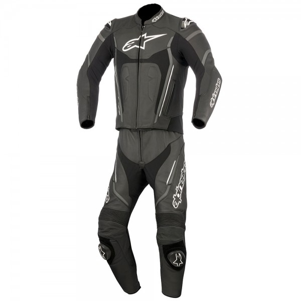 Alpinestars Motegi v2 2 Piece Suit Black Anthracite & White