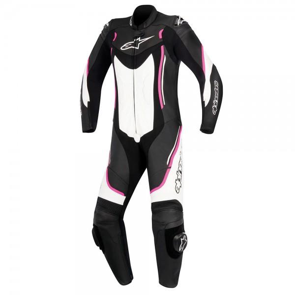 Alpinestars Motegi v2 Stella 1 Piece Suit Black White & Fuchsia