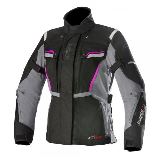 Alpinestars Stella Bogota Drystar Jacket v2 Black Grey Fuchsia