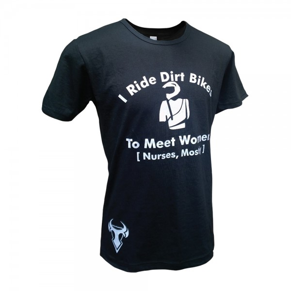 Bull-It Men Dirt Bike T-Shirt Black