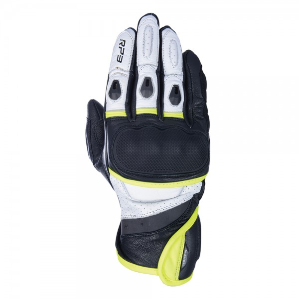 Oxford RP-3 2.0 Short Sports Gloves Black White & Fluo