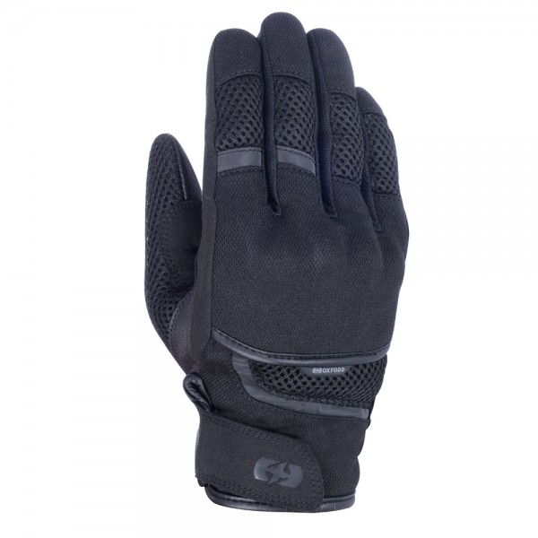 Oxford Brisbane Air Short Textile Gloves Stealth Black