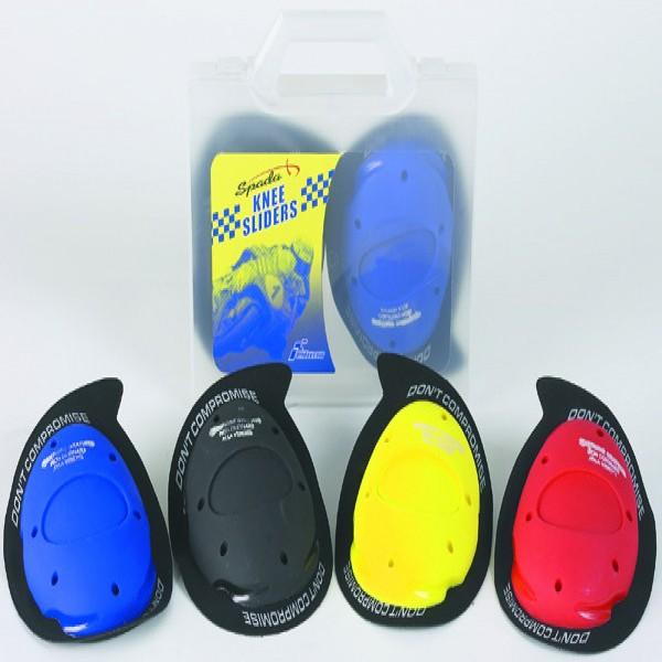Spada Knee Sliders X- Logo Yellow