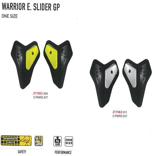 Spidi Gb Safety Lab Kit Warrior Elbow Sliders [Z175K Single] Black & Silver