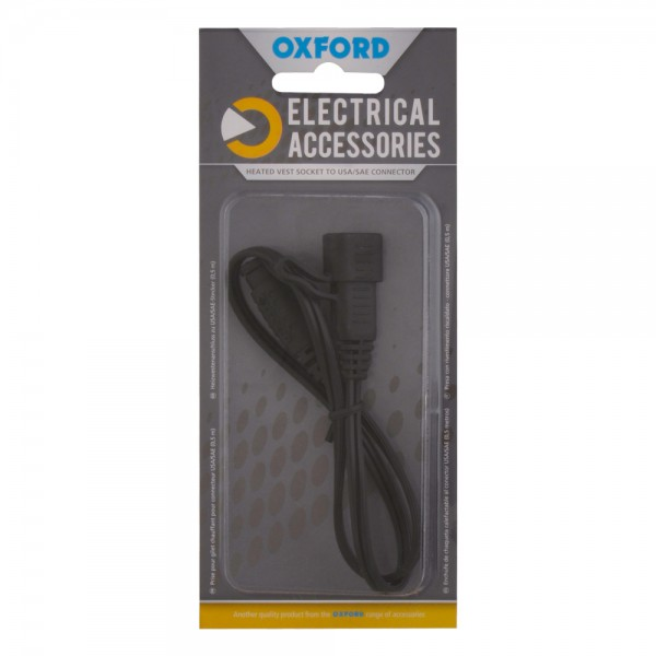 Oxford Heated vest socket to USA/SAE connector (0.5mtr lead)