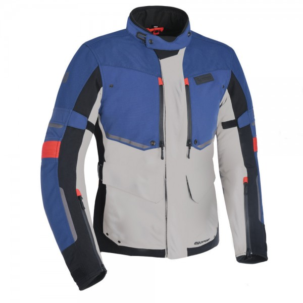 Oxford Mondial Advanced Jacket Grey Blue & Red