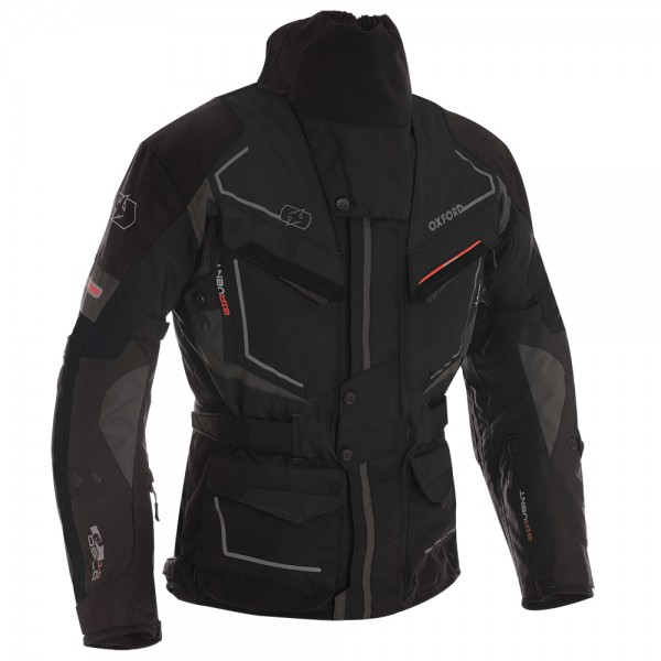 Oxford Oslo Long Jacket Tech Black
