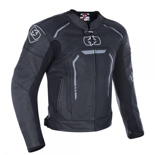 Oxford Strada Men's Leather Sports Jacket Stealth Black