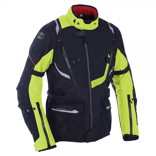 Oxford Montreal 3.0 Textile Jacket Black & Fluo