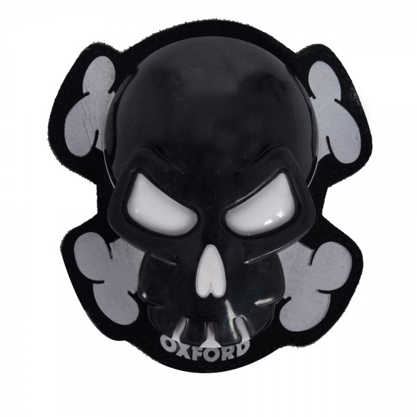 Oxford Skull Knee Sliders - Black