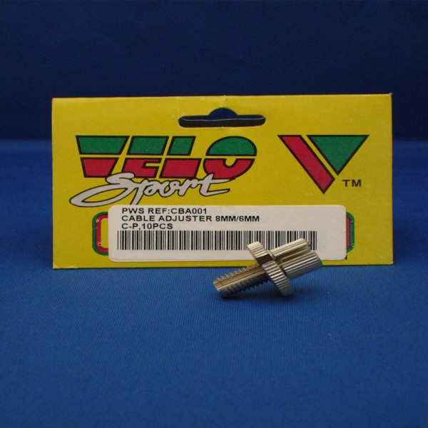 Velo Sport Cable Adjusters 6/8Mm Pk-10 [Cba001]
