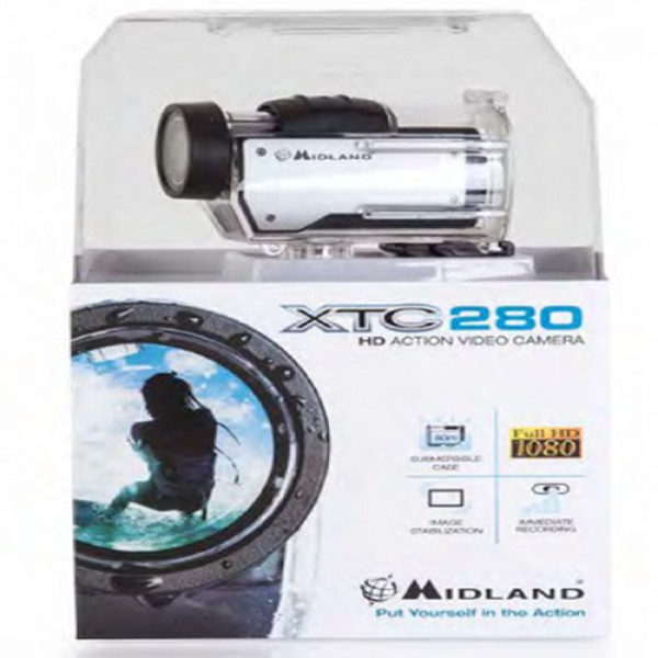 Midland Xtc280 1080P Action Camera Silver