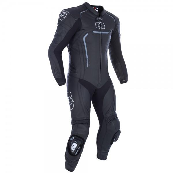 Oxford Stradale Men's 1 Piece Leather Suit Stealth Black