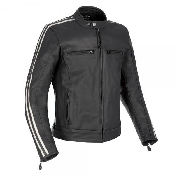 Oxford Bladon Leather Jacket Black