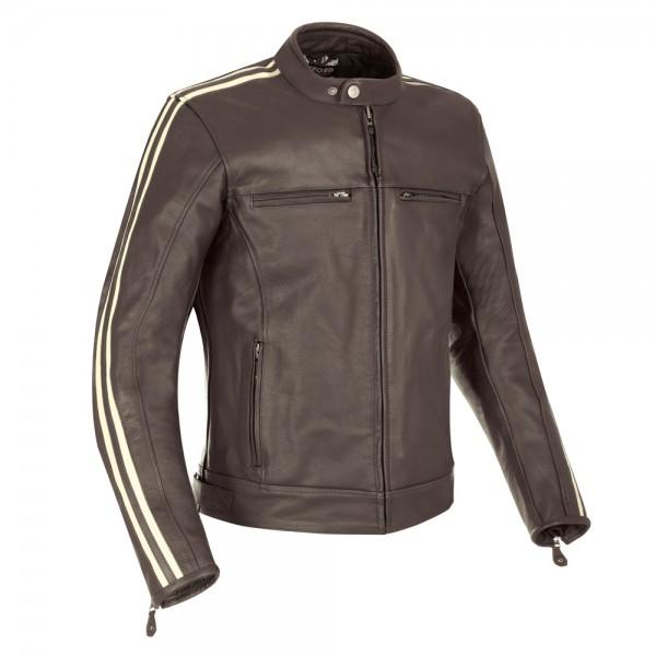 Oxford Bladon Leather Jacket Brown