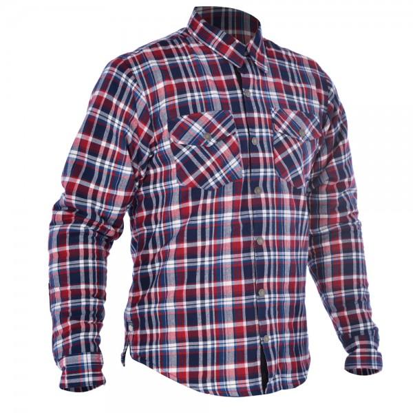 Oxford Kickback shirt Red & Blue
