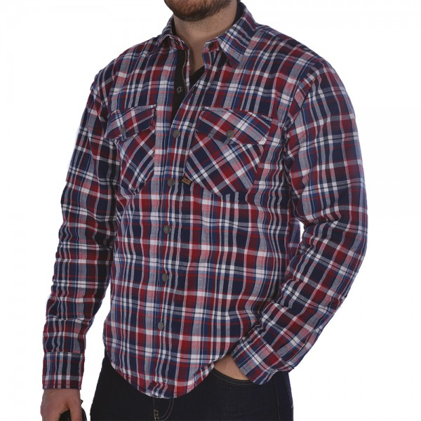 Oxford Kickback shirt Red & Blue