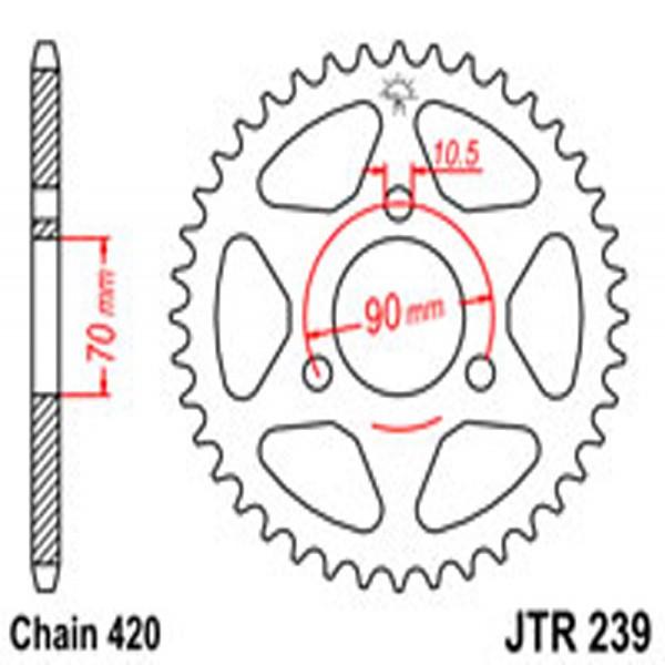 Jt Rear Sprockets R/w 239-45T Hon