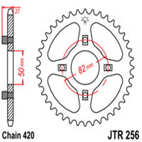 Jt Rear Sprockets R/w 256-41T Hon (153)