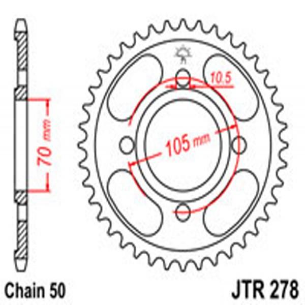 Jt Rear Sprockets R/w 278-38T Hon