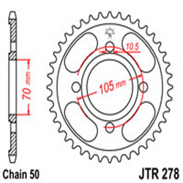 Jt Rear Sprockets R/w 278-34T Hon