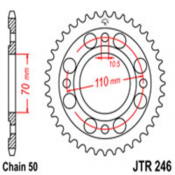 Jt Rear Sprockets R/w 246-36T