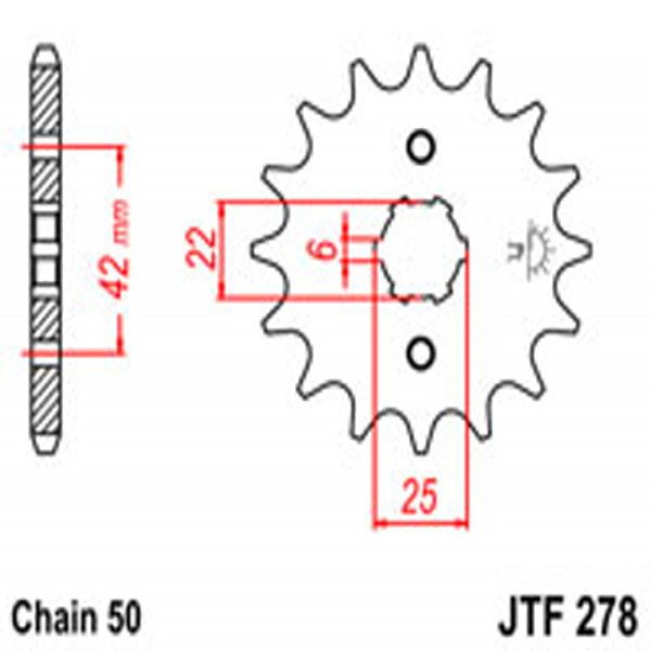 Jt Gear BOX Sprockets G/b 278-15T Hon