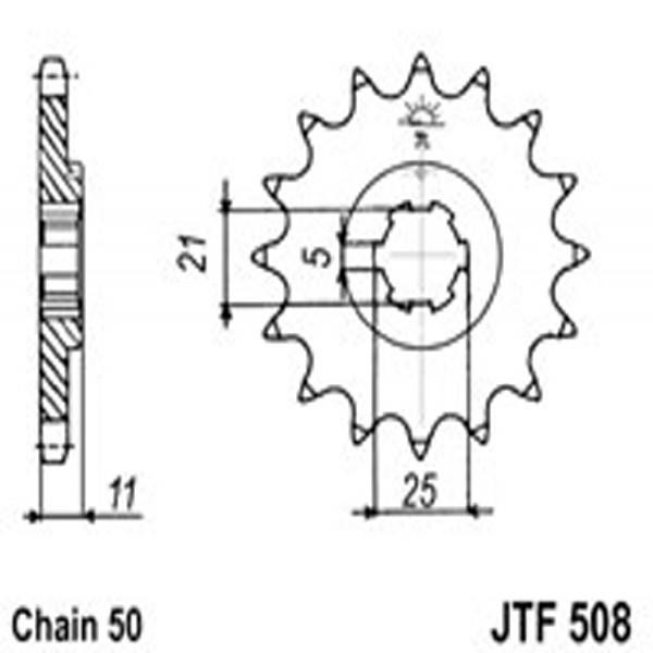 Jt Gear BOX Sprockets G/b 508-16T Kaw